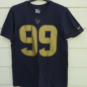 NWT SIZE L .NIKE NFL Texans JJ 99 WATT LOGO.